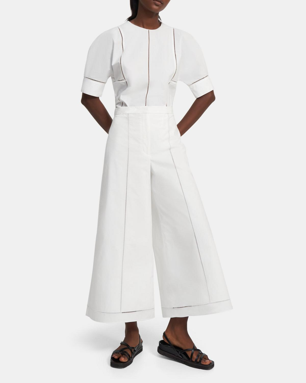 Culotte in Eyelet Cotton