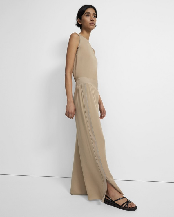 Slit Pant in Silk