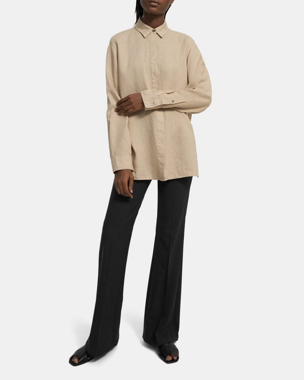 Menswear Shirt in Spring Linen