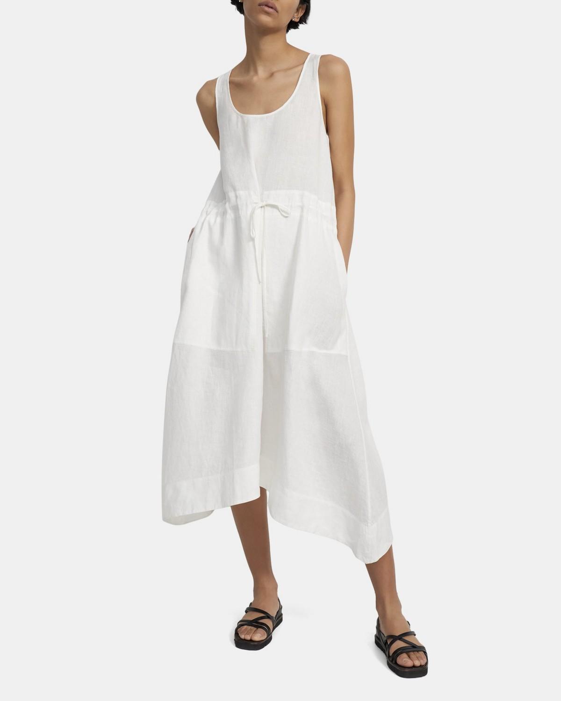 띠어리 원피스 Theory Handkerchief Dress in Spring Linen,WHITE