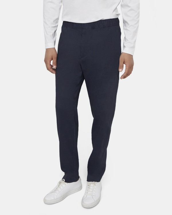 Theory Curtis Drawstring Pant in Good Linen