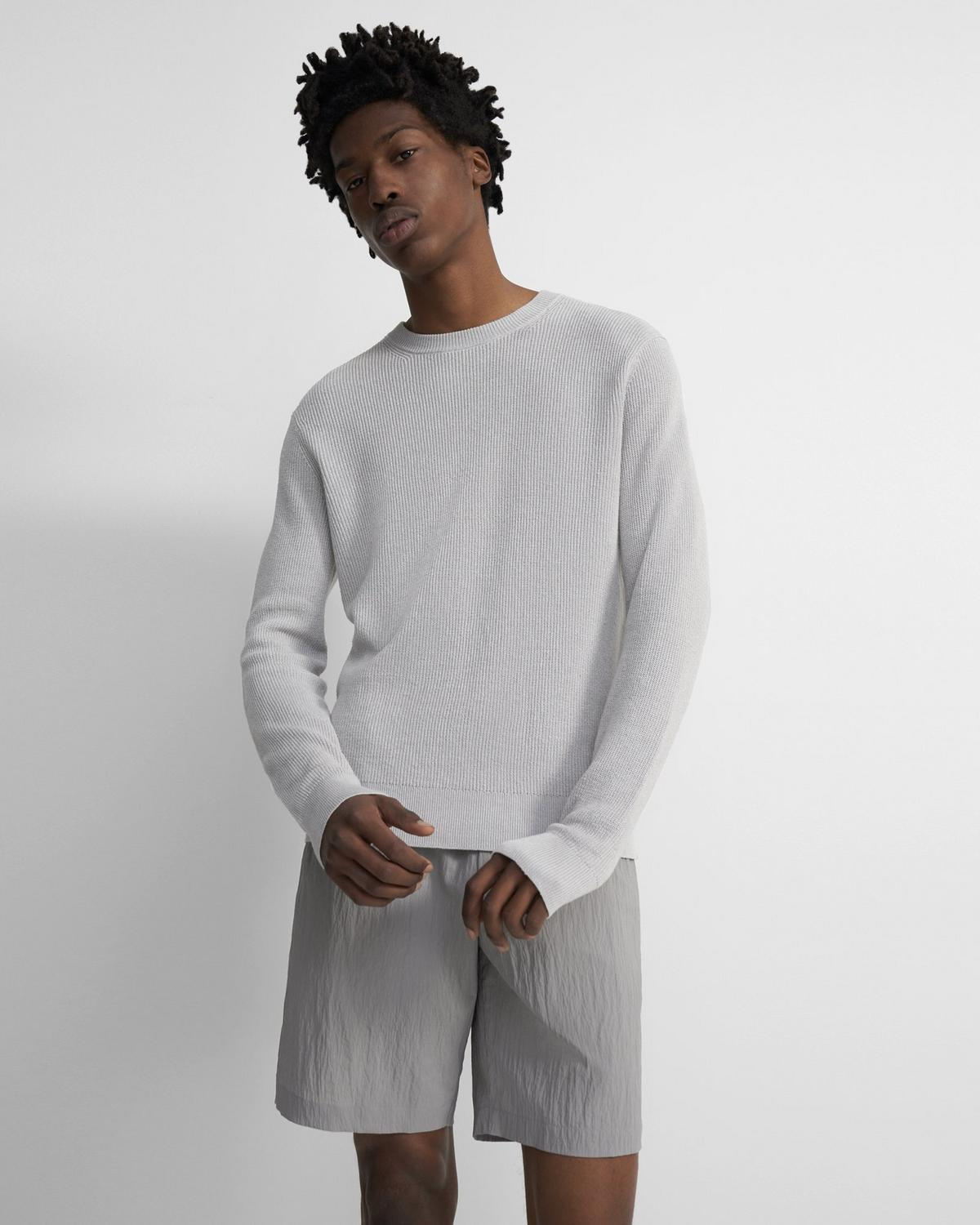 Crewneck Pullover in Knit Linen