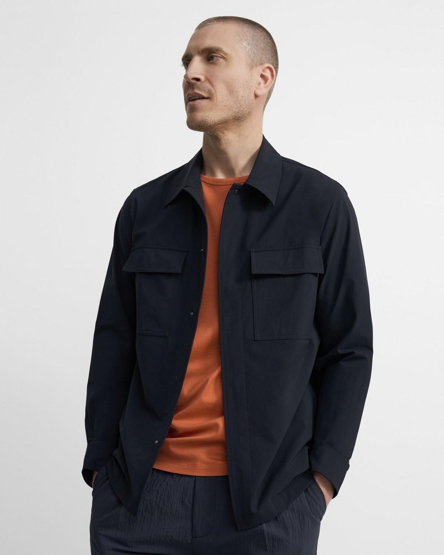 띠어리 자켓 Theory Snap-Front Jacket in Precision Tech,BALTIC